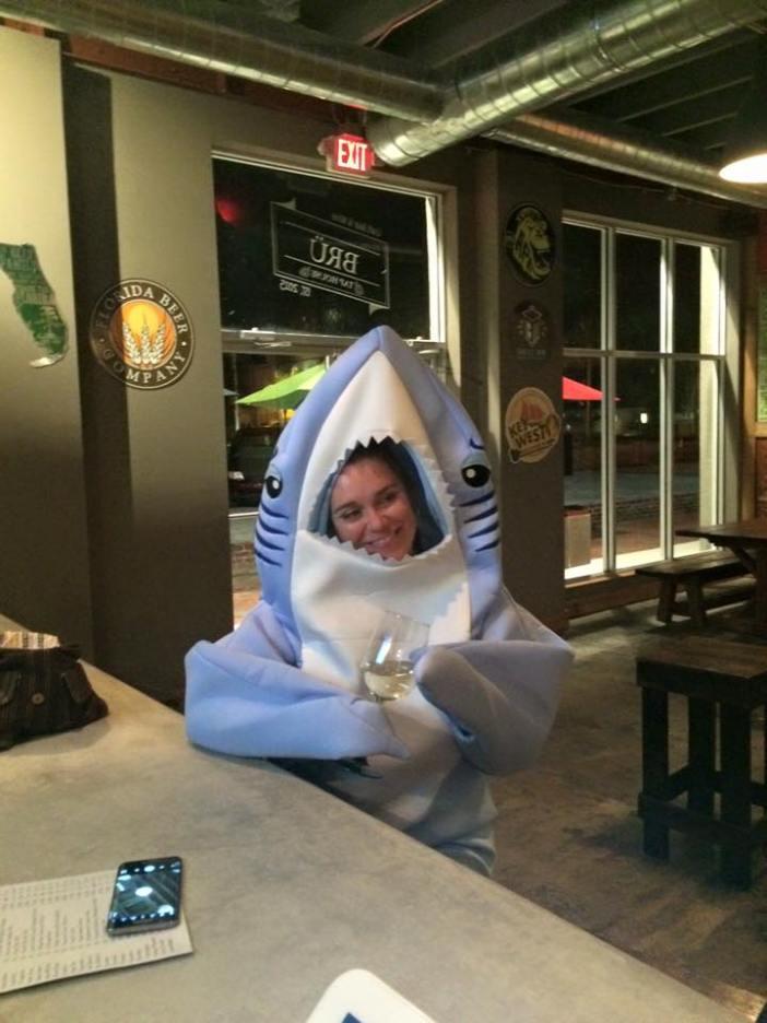 shark suit
